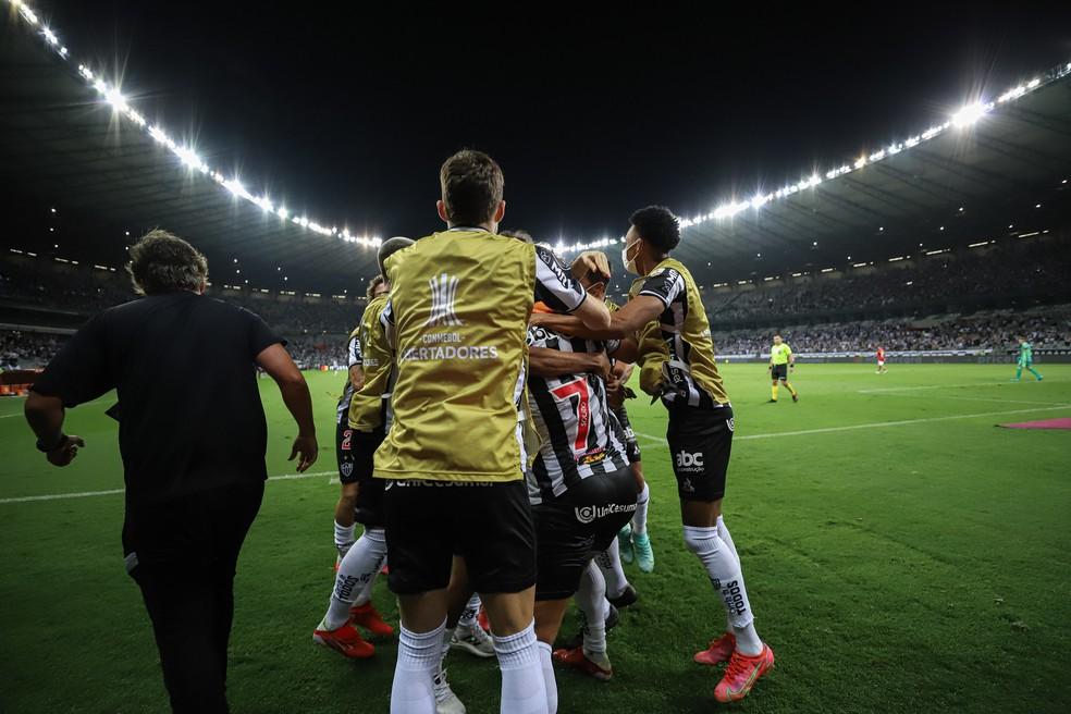 Elenco do Atlético-MG x River — Foto: Pedro Souza / Atlético
