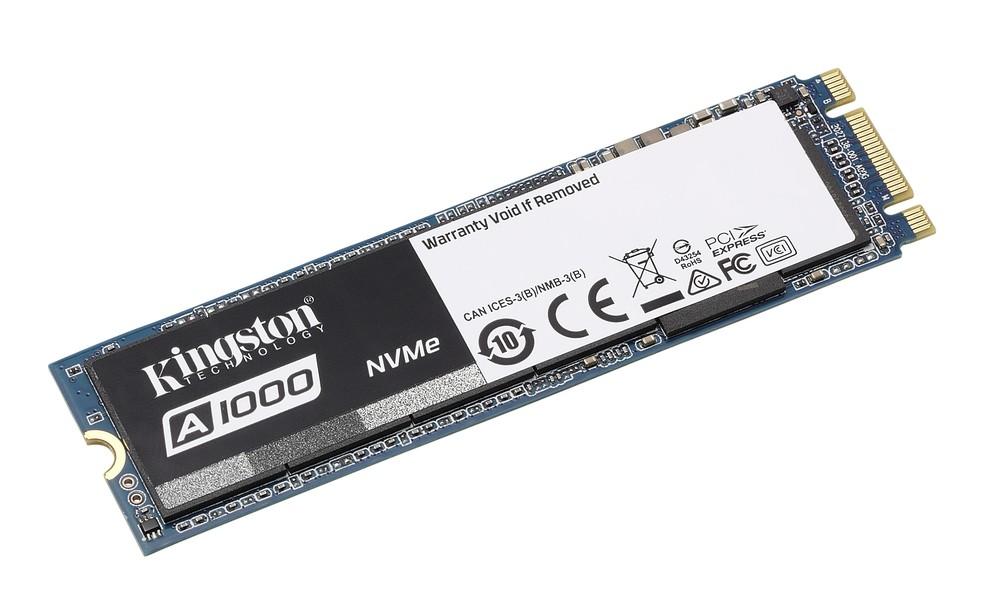 Linha A1000 já está à venda no Brasil com opções de 240 GB, 480 GB e 960 GB (Foto: Divulgação/Kingston)