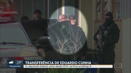 O ex-deputado federal Eduardo Cunha chegou ao Rio e vai ficar preso em Bangu 8