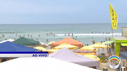 Cinco praias estão impróprias para banho no litoral norte de São Paulo