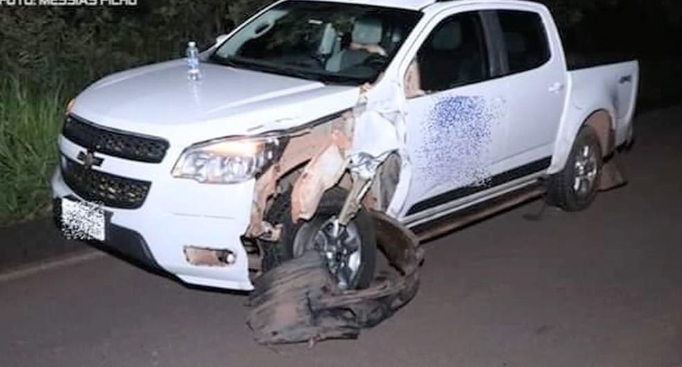 Nenhum dos ocupantes da caminhonete ficou ferido — Foto: Messias Filho/Arquivo Pessoal