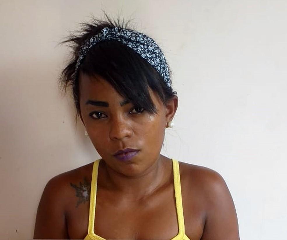 Aldilene Martins foi presa em um ônibus que seguia do Pará para o Maranhão. — Foto: Divulgação/Polícia Militar
