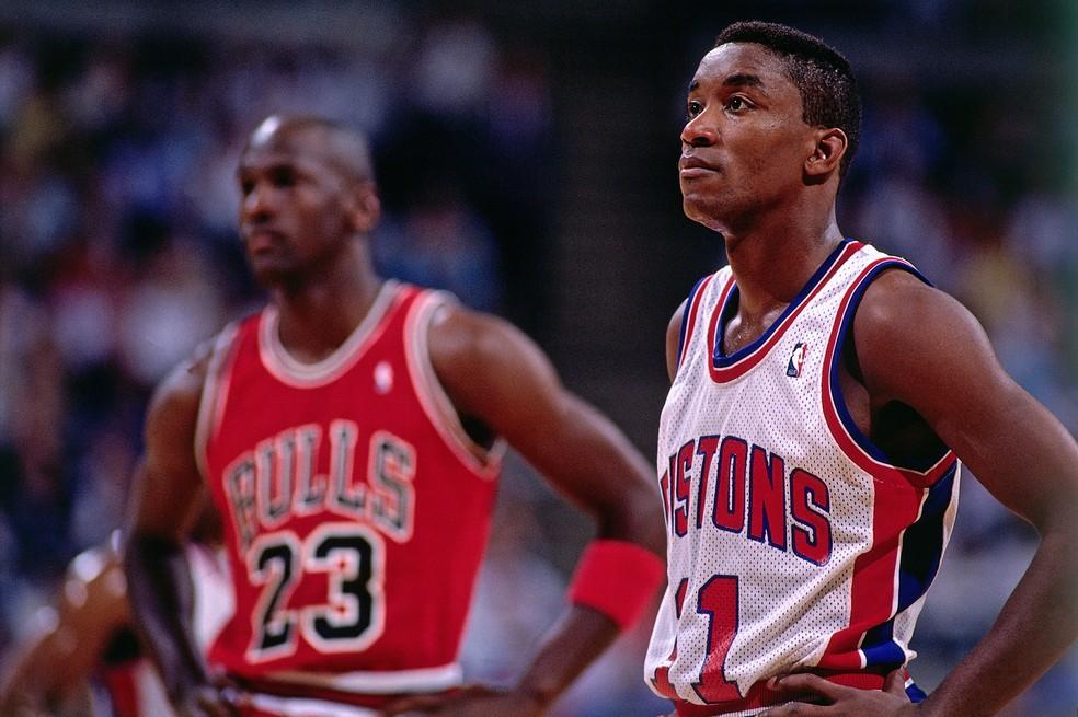 Rusgas com Jordan e astros da NBA custaram a Isiah Thomas uma vaga ...