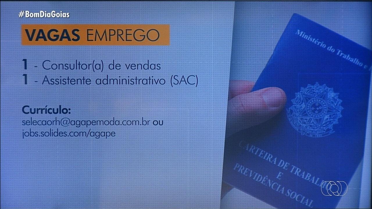 Veja oportunidades de trabalho em Goiás