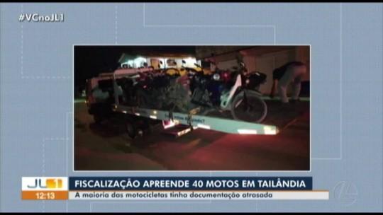 Detran apreende mais de 40 motos irregulares no município de Tailândia, nordeste do Pará