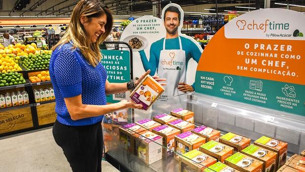 A primeira parceria do GPA com foodtechs foi com a Cheftime, que oferece kits gastronômicos nas lojas físicas e no e-commerce. (Foto: Divulgação)
