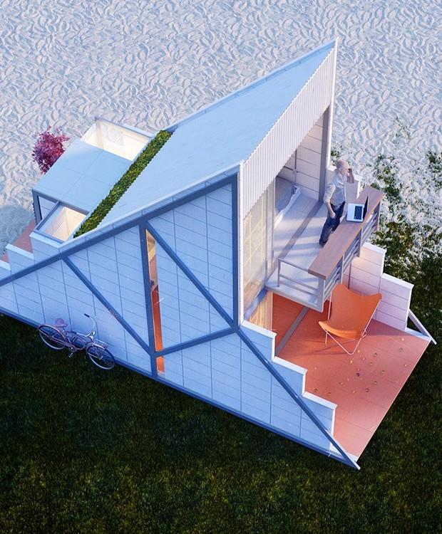 O modelo permite com que o ambiente seja expandido (Foto: Behance/ Reprodução)