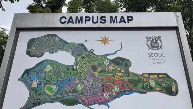 Mapa do Campus (Foto: Arquivo pessoal/Fernanda Lopes de Macedo Thees)