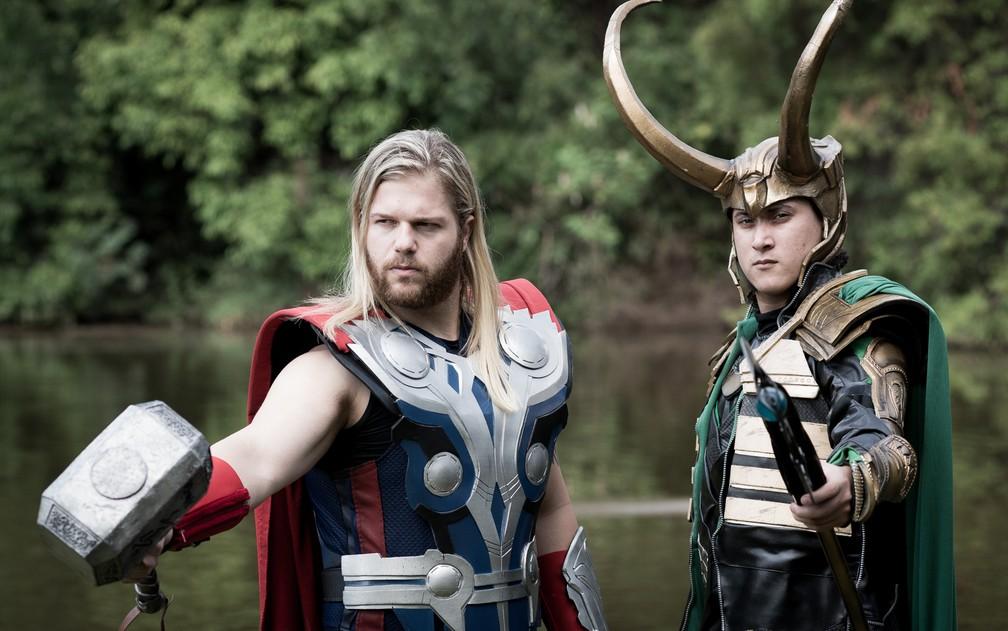 Amigos de Orlândia e Ribeirão Preto fazem eventos juntos na pela de Thor e Loki (Foto: Érico Andrade/G1)