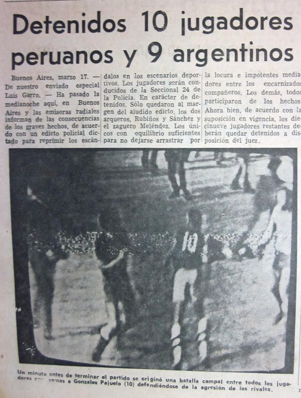 Jornais de todo o mundo repercutiram a briga na Bombonera. — Foto: Reprodução