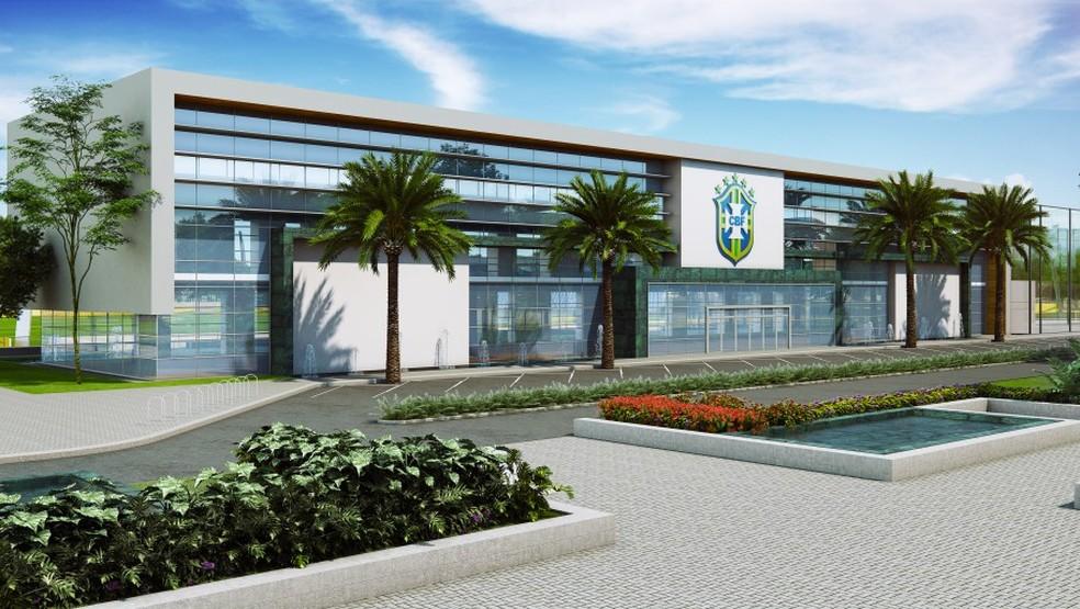 CBF anunciou Centro de Desenvolvimento do Futebol a ser construído no Rio — Foto: Bruno Pacheco/ Divulgação CBF