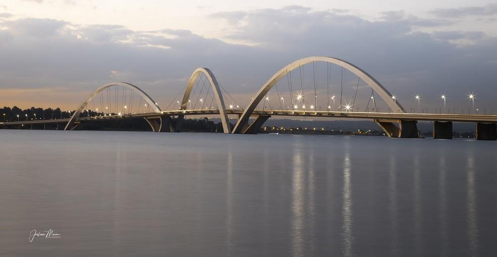 Ponte JK, em Brasília  — Foto: Joelson Maia/TV Globo