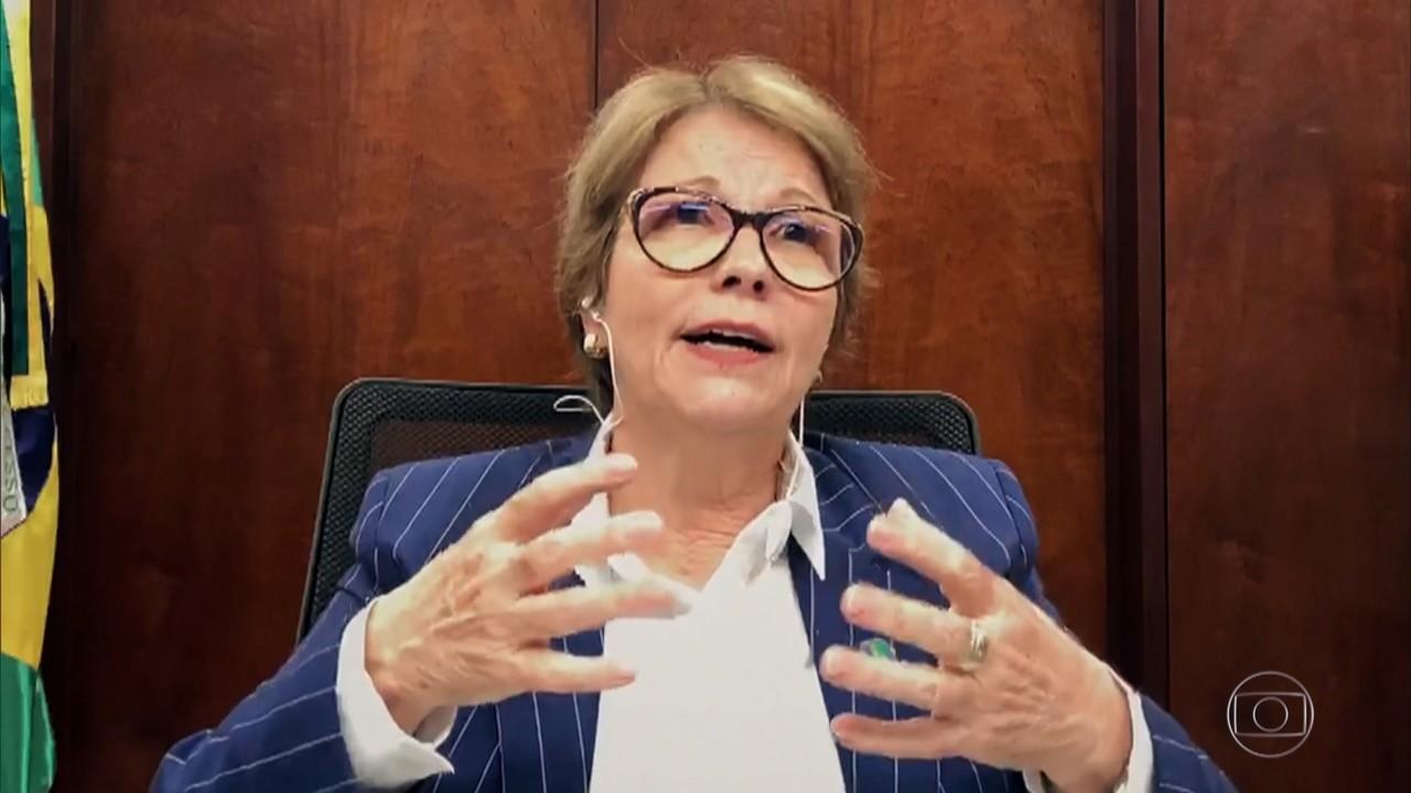 Tereza Cristina fala sobre os elogios do presidente