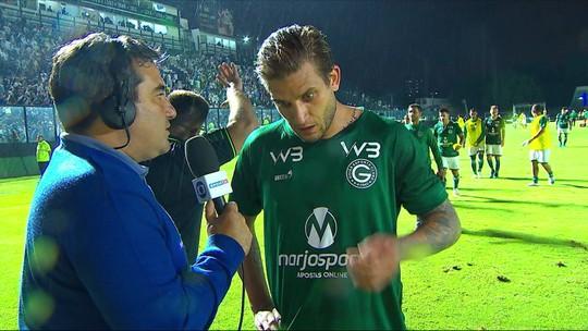 Rafael Moura enaltece luta do Goiás contra o Vasco e garante time competitivo na reta final