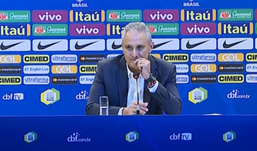 Tite, técnico da Seleção Brasileira — Foto: Reprodução / SporTV