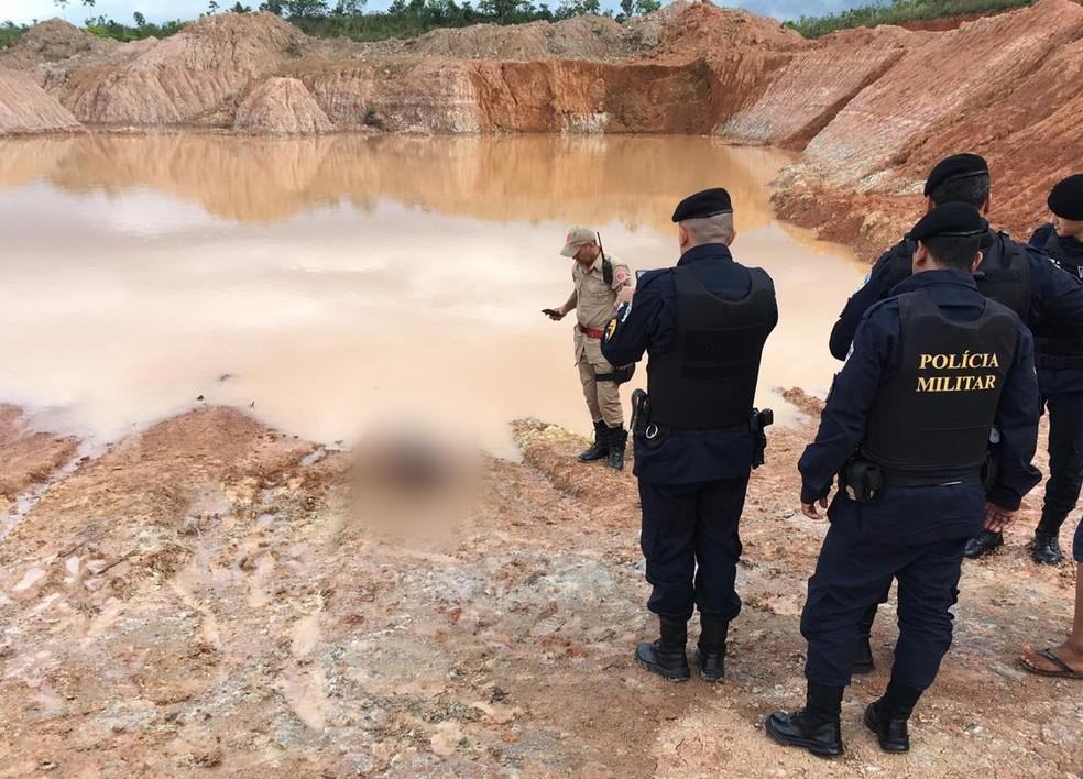 Local onde a suspeita jogou o menino para se afogar, em Porto Velho — Foto: Corpo de Bombeiros/Divulgação