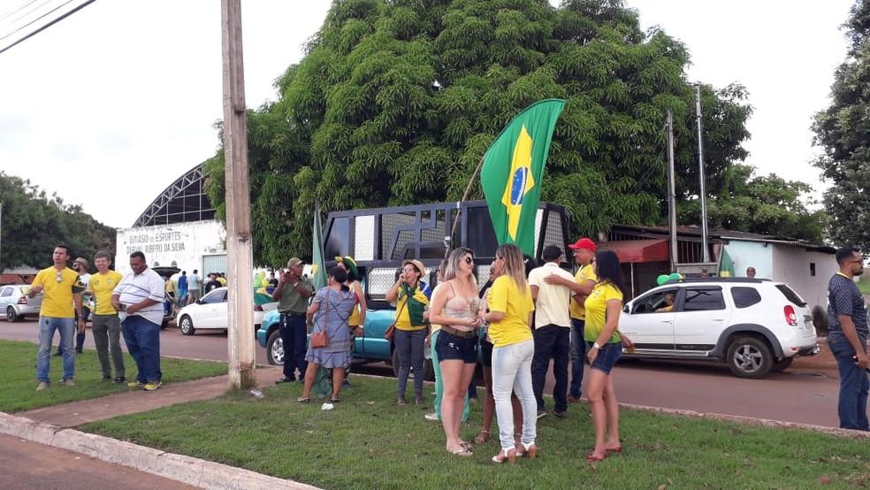 PARAÍSO DO TOCANTINS, 16h15: grupo faz ato em apoio ao governo Bolsonaro — Foto: Divulgação/Sargento Adriano