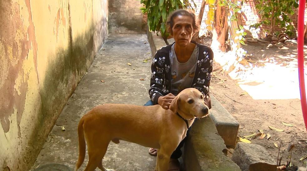 Maria Imaculada Conceição adotou um cachorro durante quarentena da Covid-19 — Foto: Reprodução / EPTV