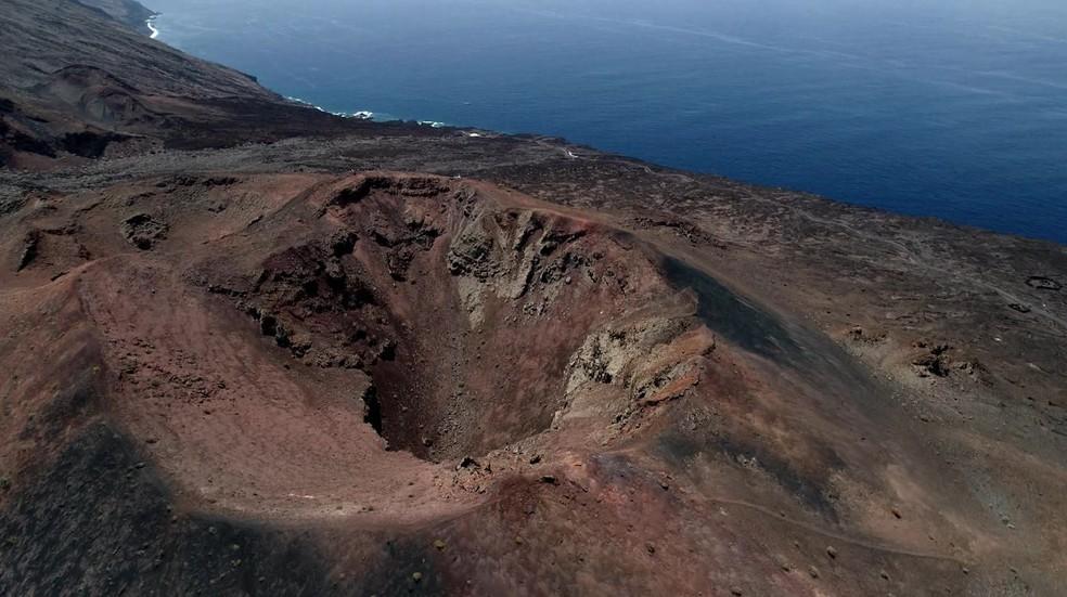 Vulcão nas Ilhas Canárias — Foto: Globo Repórter
