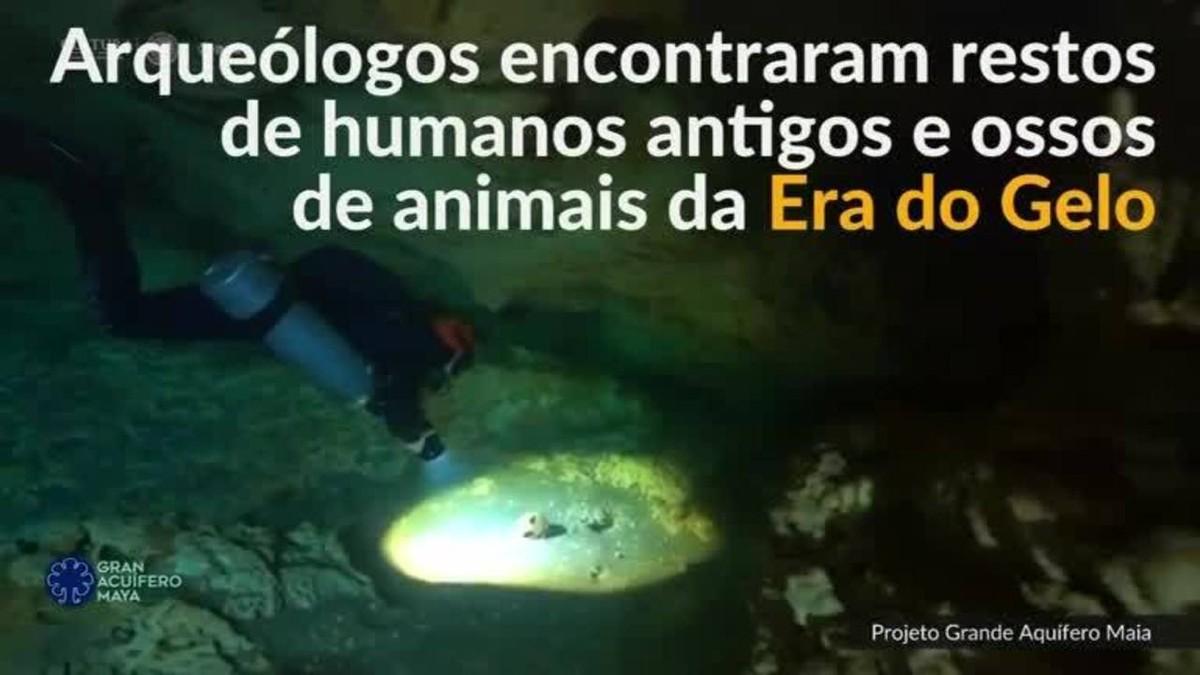 Restos humanos e ossos de animais da Era do Gelo são encontrados em caverna do México