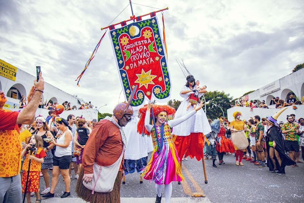 Orquestra Alada Trovão Da Mata, durante apresentação no Carnaval de Brasília, em imagem de arquivo — Foto: Thiago S. Araújo