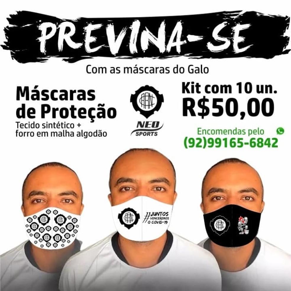 Rio Negro vende máscaras para ajudar a pagar despesas — Foto: Reprodução/Arquivo pessoal