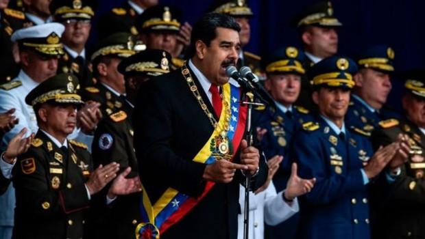 O suposto atentado contra Maduro ocorreu durante um ato militar (Foto: Getty Images/BBC)
