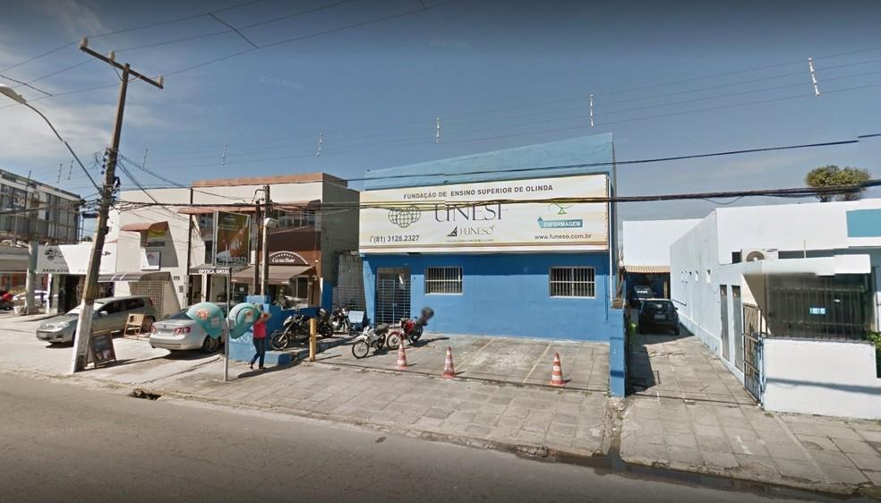 Condenação da Funeso, localizada em Olinda, foi feita pela Justiça Federal de Pernambuco (Foto: Reprodução/Google Stret View)