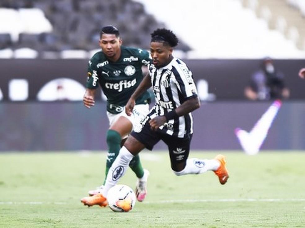 Palmeiras jogou contra o Santos na final da Copa da Libertadores — Foto: André Durão