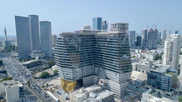 Edifício em Tel Aviv tem forma inspirada em iceberg  (Foto: Reprodução)