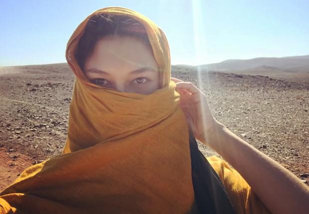 Day Mesquita abre álbum de viagem ao Marrocos (Foto: Arquivo pessoal)