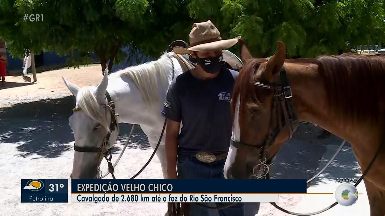 Cavaleiros fazem expedição de 2.680 km até a foz do Rio São Francisco
