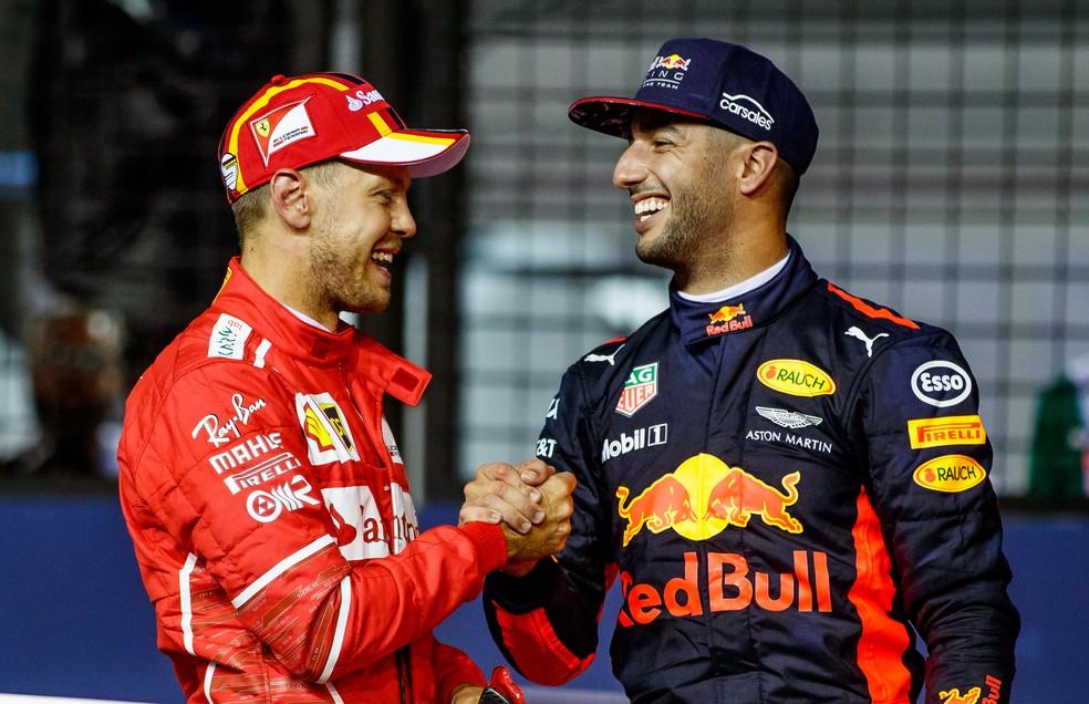 Sebastian Vettel e Daniel Ricciardo podem se tornar novamente companheiros de equipe (Foto: Lars Baron/Getty Images)