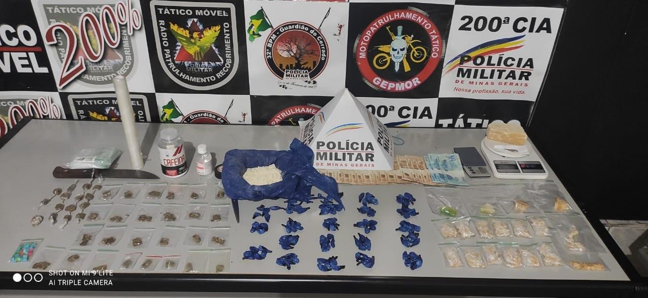 Denúncias levam a apreensão de porções de crack, maconha, cocaína e ecstasy em Uberlândia