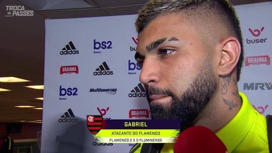 """Gabigol sobre Fla x Grêmio: """"Jogo do ano é sempre o próximo. É só mais um jogo, sem pressão"""""""