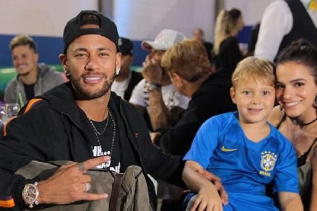 Neymar, Davi Lucca e Bruna Marquezine (Foto: Reprodução Instagram)