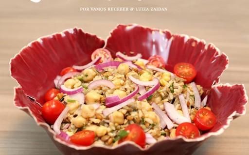 Deliciosa e saudável: salada de grãos