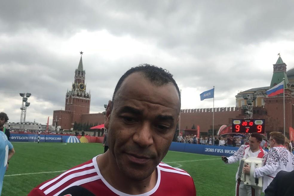 Cafu afirmou não ter se surpreendido com falta de sul-americanos nas semifinais da Copa (Foto: Amanda Kestelman)