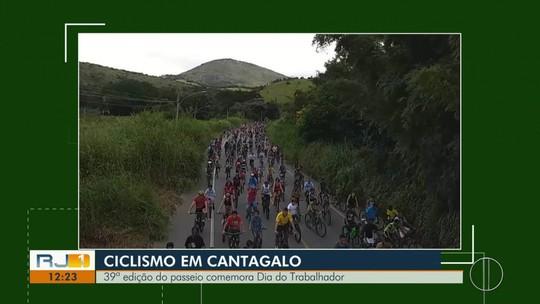 Prova de ciclismo comemora Dia do Trabalhador em Cantagalo, no RJ