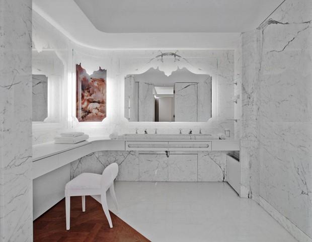 Degradê dá efeito surpresa e artsy a apartamento francês (Foto: Paul Graves e N. Millet/Divulgação)