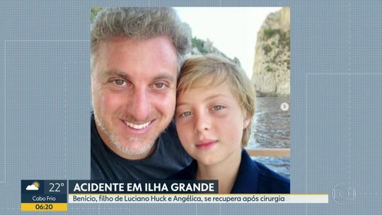 Filho de Luciano Huck e Angélica se recupera em hospital em Copacabana