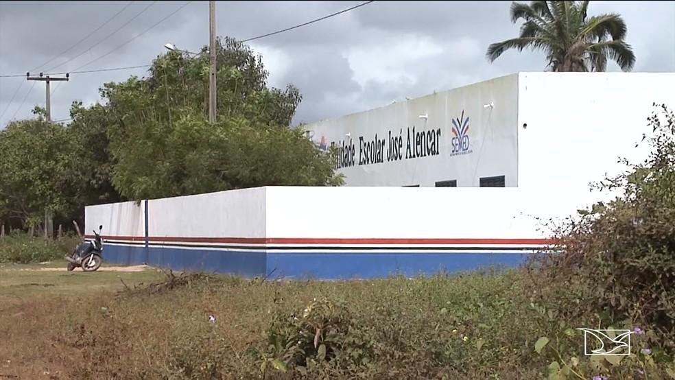 Unidade Escolar José Alencar, na zona rural da cidade de Pio XII (Foto: Reprodução/TV Mirante)
