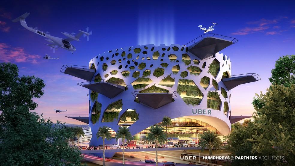 Skyport vai ser o 'heliporto' do uberAIR — Foto: Divulgação/Uber