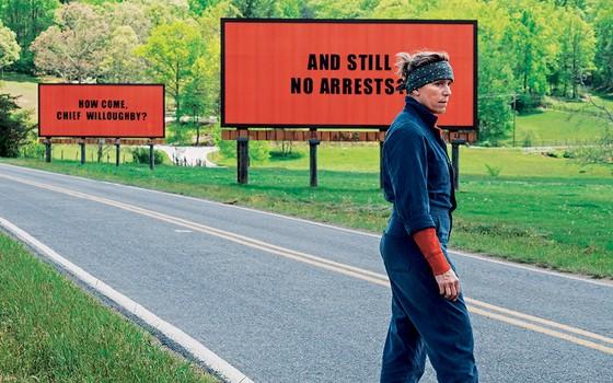 Frances McDormand em Três anúncios para um crime: atriz e filme têm grandes chances de premiação (Foto: Perfect world pictures / Working/AFP)