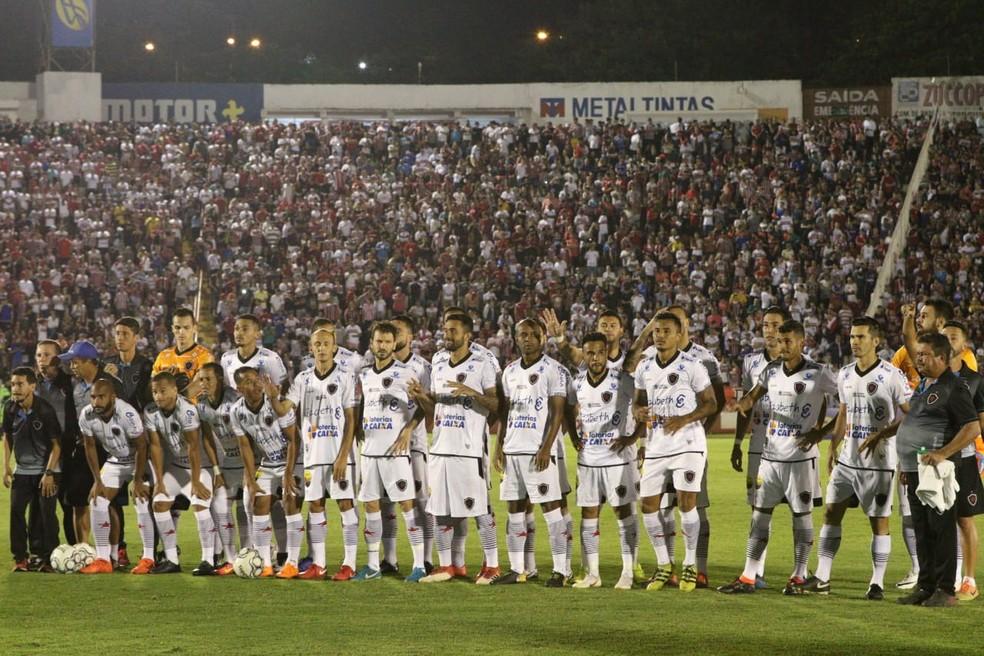 Integrante da Série C de 2020, o Botafogo-PB também se orgulha de nunca ter sido rebaixado em sua história — Foto: Renato Lopes/GloboEsporte.com