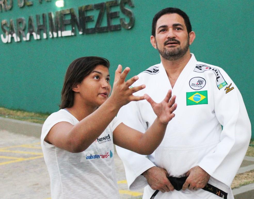 Sarah Menezes técnico e CBJ traçam estratégia para mais um ciclo olímpico da atleta na 48kg (Foto: Wenner Tito )