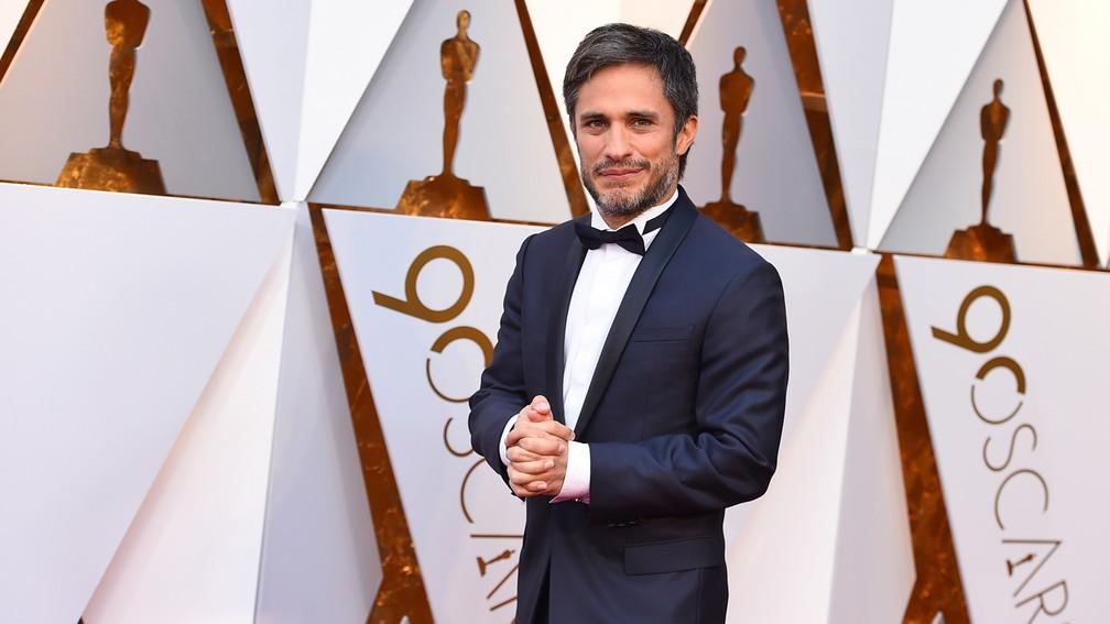O ator Gael Garcia Bernal, de 'Viva', chega ao Oscar 2018 (Foto: Jordan Strauss/Invision/AP)