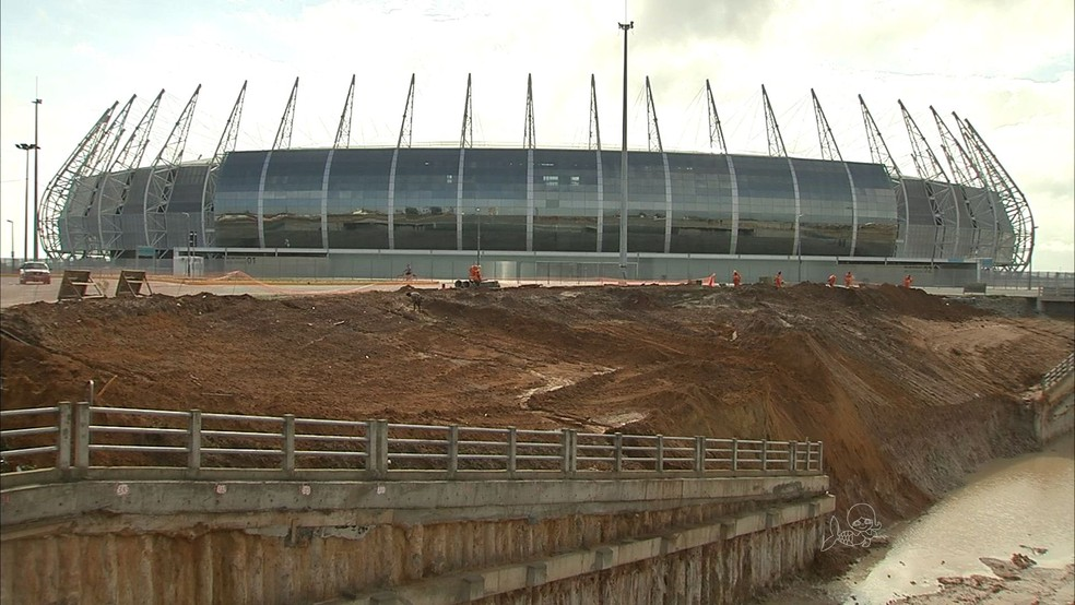 Reforma do Castelão (Foto: TV Verdes Mares/Reprodução)