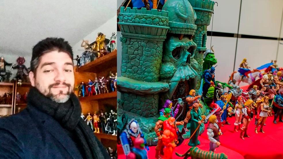Igor Monteiro é arquiteto e coleciona objetos dos personagens favoritos há 35 anos — Foto: Reprodução/Facebook