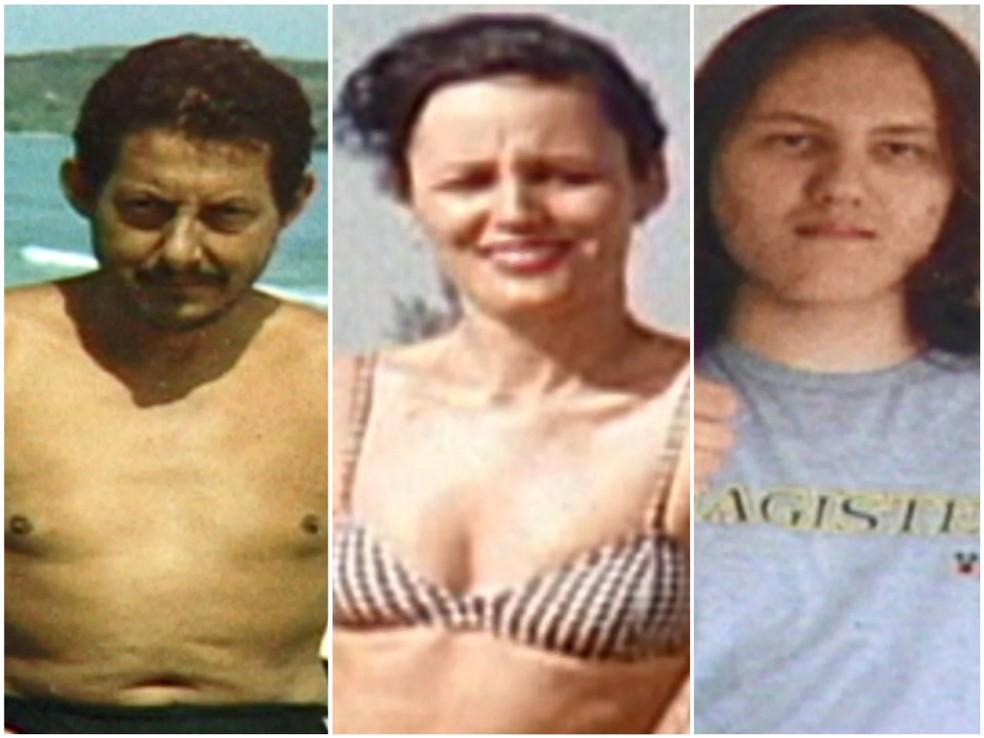 Pai, mãe e filho foram mortos no dia 26 de abril de 2005, na Praia do Morro, em Guarapari — Foto: Arquivo/ TV Gazeta